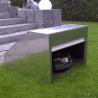 Robot mower shelter with aluminium roller shutters