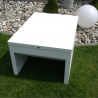 XL roller shutter mowing robot shelter in white lacquered aluminium