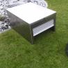 Aluminium XL roller shutter mowing robot shelter